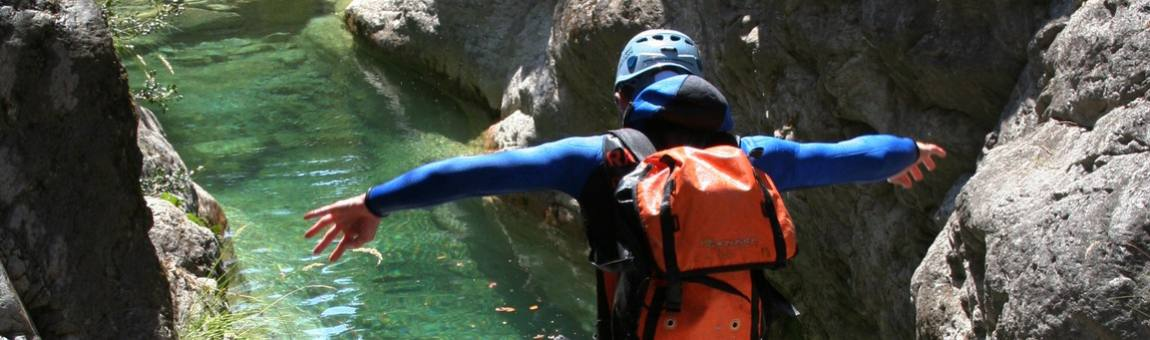 canyoning saut vasque